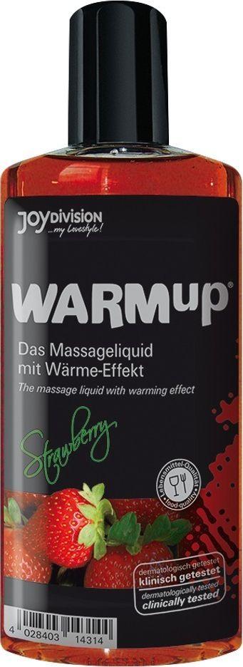 JoyDivision Разогревающий массажный гель, съедобный Warm Up, клубника, 150 мл14314Разогревающее массажное масло с потрясающим ароматом. Нанесите на кожу массирующими движениям. А теперь подуйте - почувствуйте приятное, возбуждающее тепло.