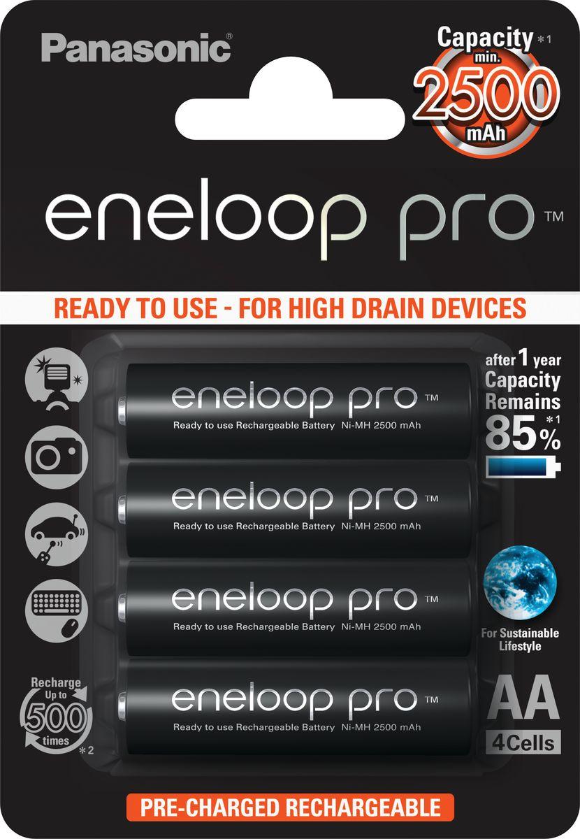 "Аккумулятор Panasonic ""Eneloop Pro"", тип АА, 2500 mAh, 4 шт"