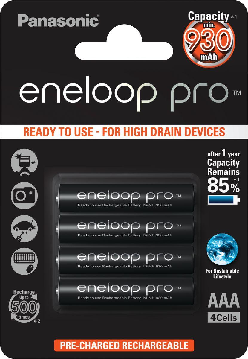 "Аккумулятор Panasonic ""Eneloop Pro"", тип AAA, 930 мАч, 4 шт"