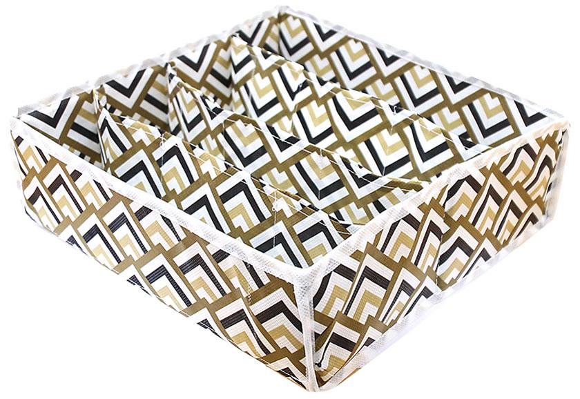 Органайзер для хранения вещей Eva Черное золото, 4 отделения, 30 х 30 х 10 см органайзер для хранения сумок eva черное золото подвесной 36 x 80 см