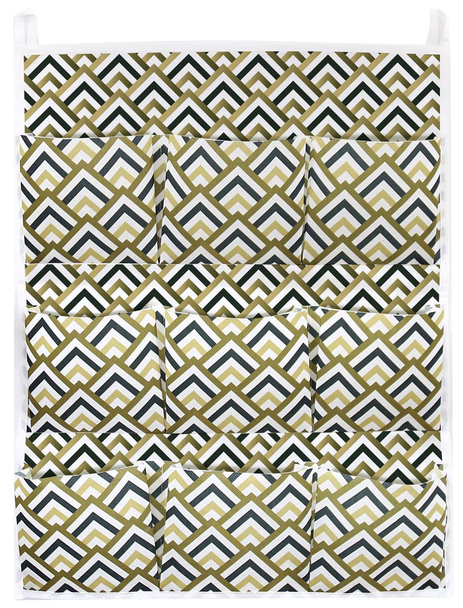 Органайзер для хранения вещей Eva Черное золото, подвесной, 9 карманов, 45 х 58 см органайзер для хранения сумок eva черное золото подвесной 36 x 80 см