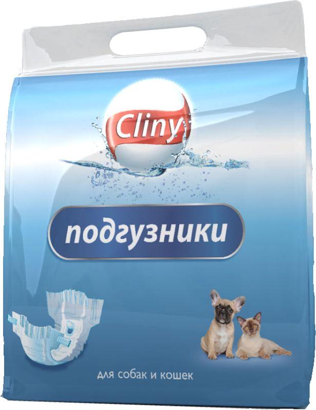 Подгузники для домашних животных Cliny, 9 шт. Размер M орозим гель orozyme для животных