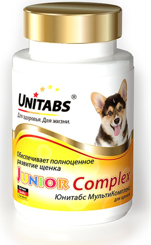 """Витамины Unitabs """"JuniorComplex"""", для щенков, 100 таблеток"""