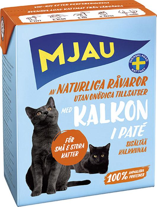 Фото - Консервы Mjau для кошек, мясной паштет с индейкой, 380 г консервы mjau для кошек мясной паштет с радужной форелью 380 г