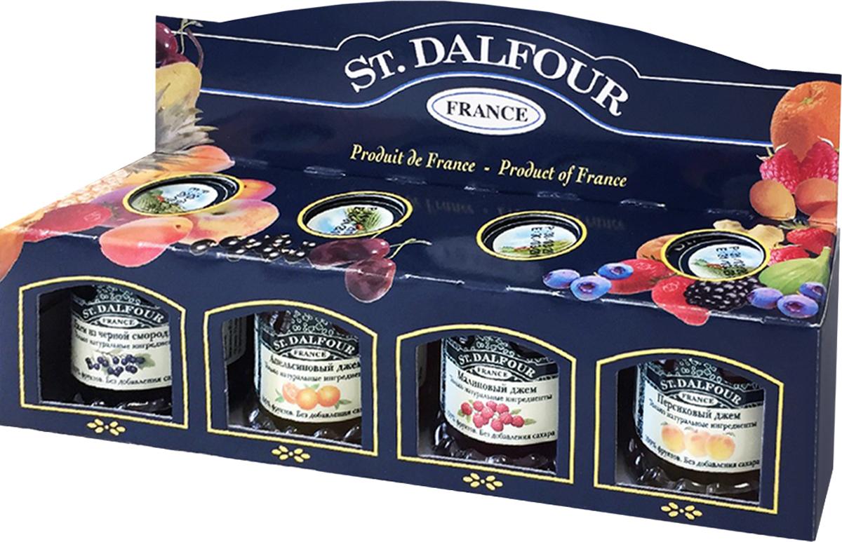 все цены на St. Dalfour подарочный набор 4 джема персик, малина, апельсин, черная смородина, 112 г онлайн