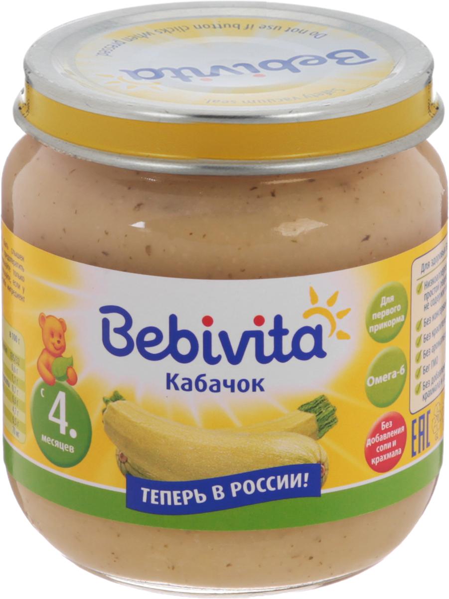 Bebivita пюре кабачок, с 4 месяцев, 100 г