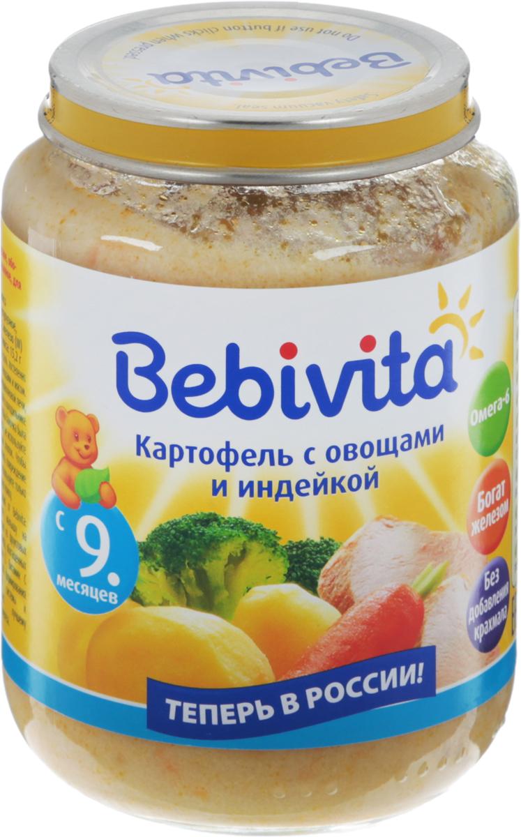 Bebivita пюре картофель с овощами и индейкой, с 9 месяцев, 190 г