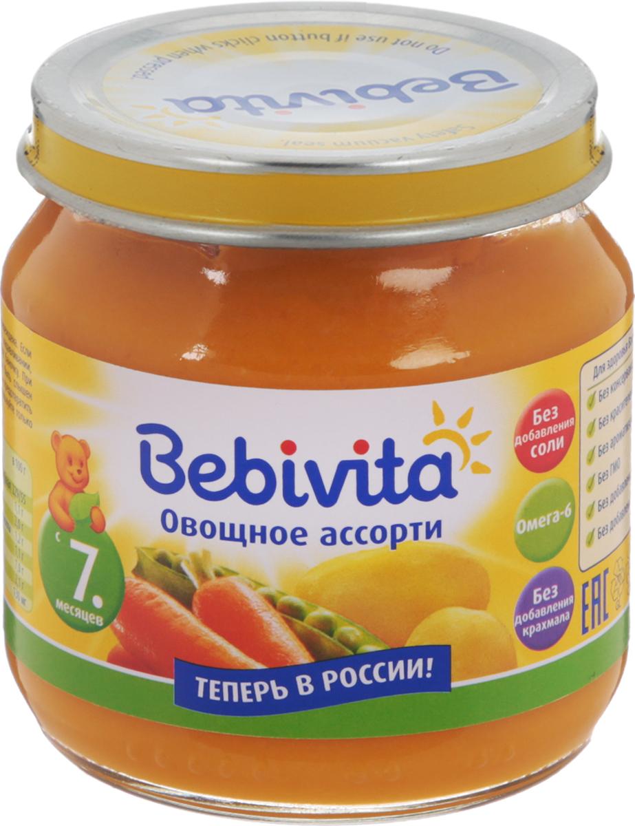 Bebivita пюре овощное ассорти, с 7 месяцев, 100 г