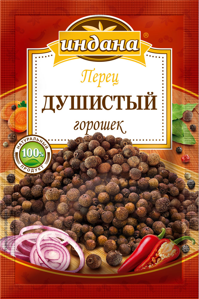 Индана перец душистый горошек, 10 г00000040313100% натуральный продукт - не содержит усилителей вкуса, консервантов, красителей и других пищевых добавок.