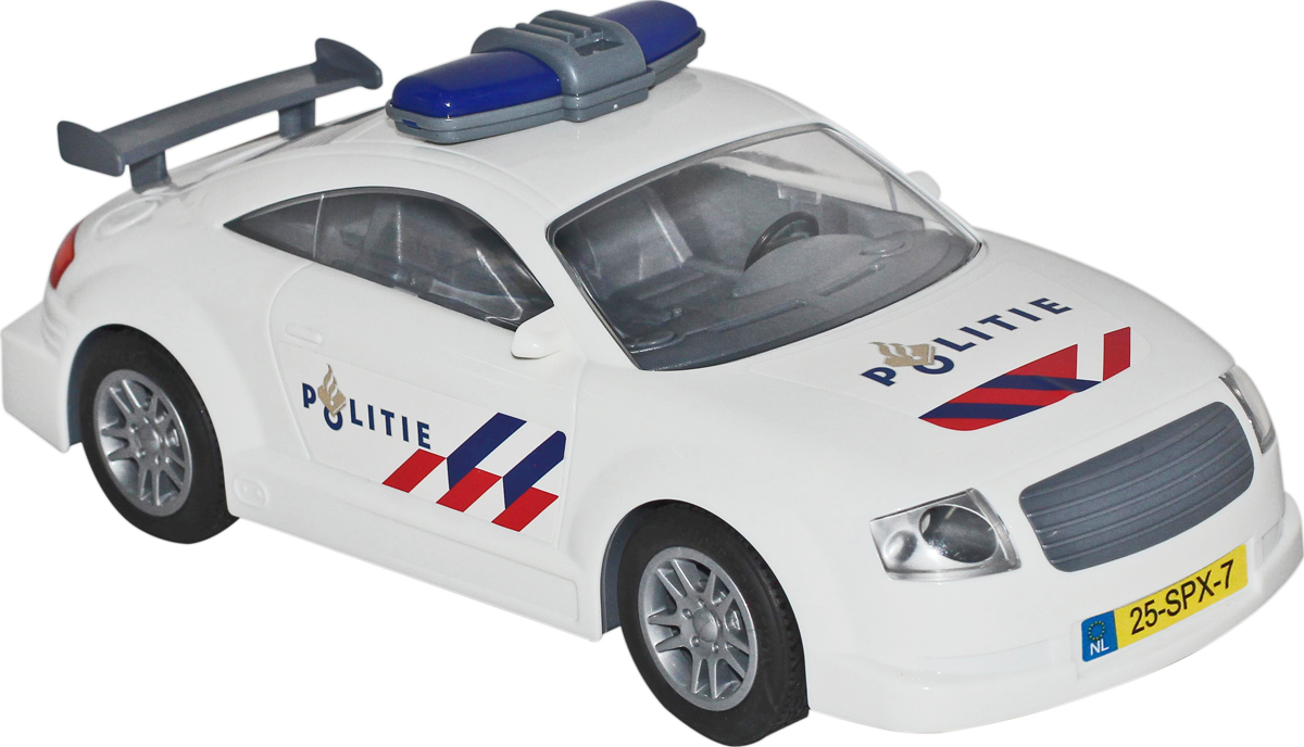 Полесье Автомобиль инерционный Politie, цвет в ассортименте48066Инерционная машинка Politie от компании Полесье обязательно понравится мальчикам. Модель транспортного средства выглядит очень реалистично, отличается оригинальным внешним видом, укомплектована задним гоночным спойлером и оснащена инерционным механизмом.С такой полицейской машинкой дети смогут устраивать головокружительные погони, и весело проводить свой игровой досуг. Уважаемые клиенты! Обращаем ваше внимание на цветовой ассортимент товара. Поставка осуществляется в зависимости от наличия на складе.