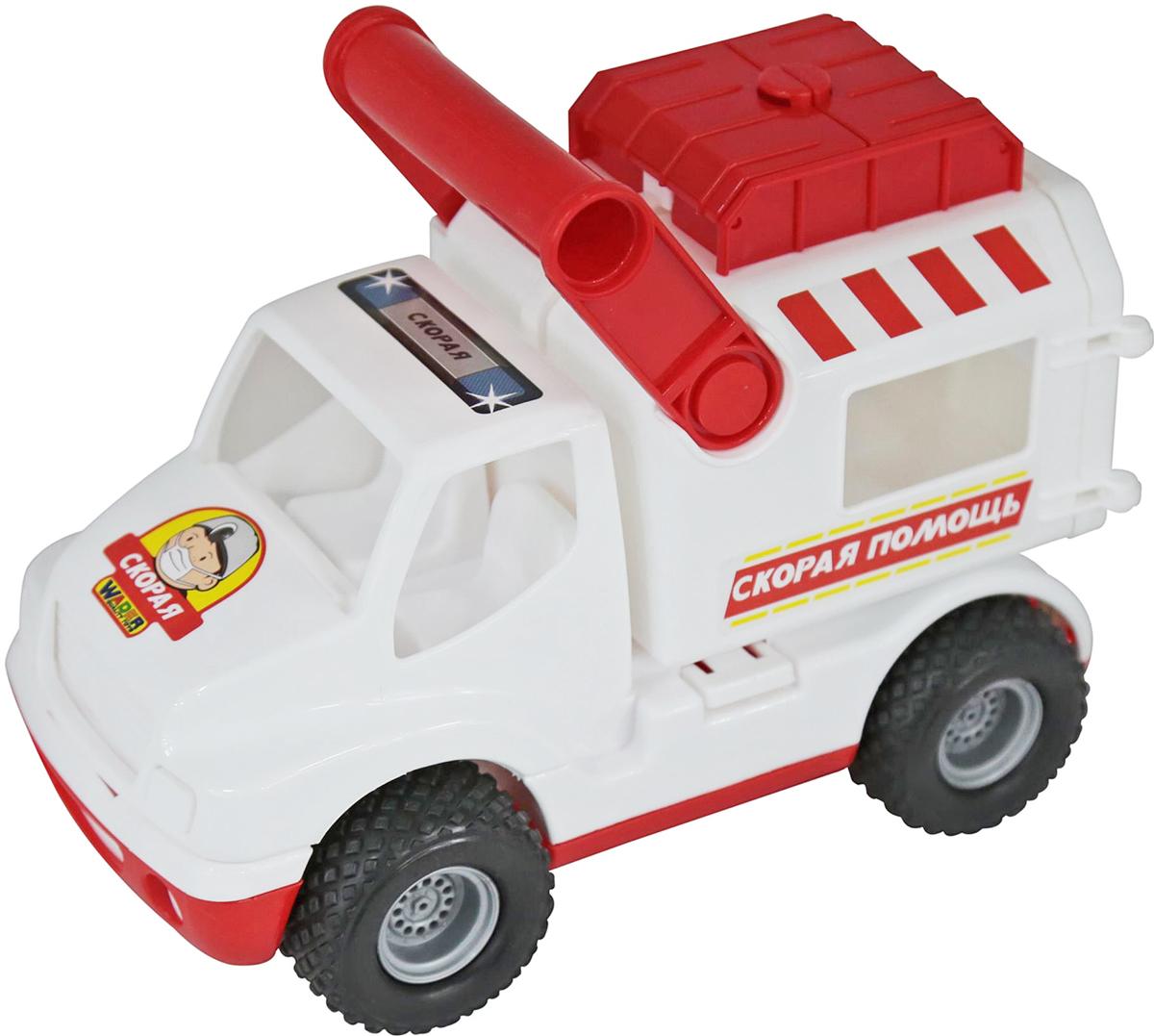 Полесье Автомобиль КонсТрак Скорая помощь, цвет в ассортименте автомобиль пластмастер малютка зефирки цвет в ассортименте 31172