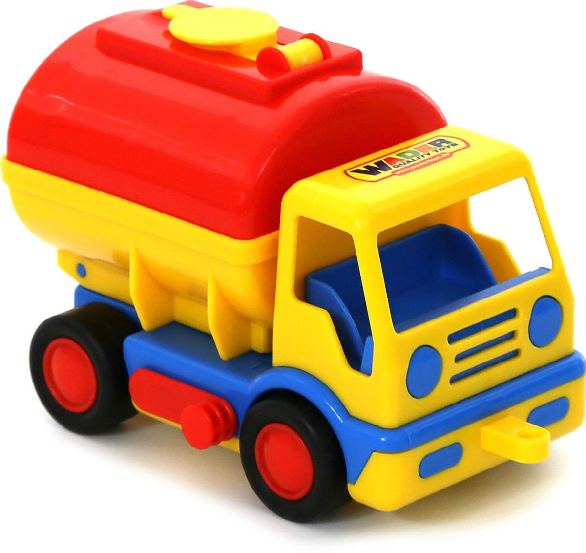 Фото - Полесье Бензовоз Базик, цвет в ассортименте полесье набор игрушек для песочницы 468 цвет в ассортименте