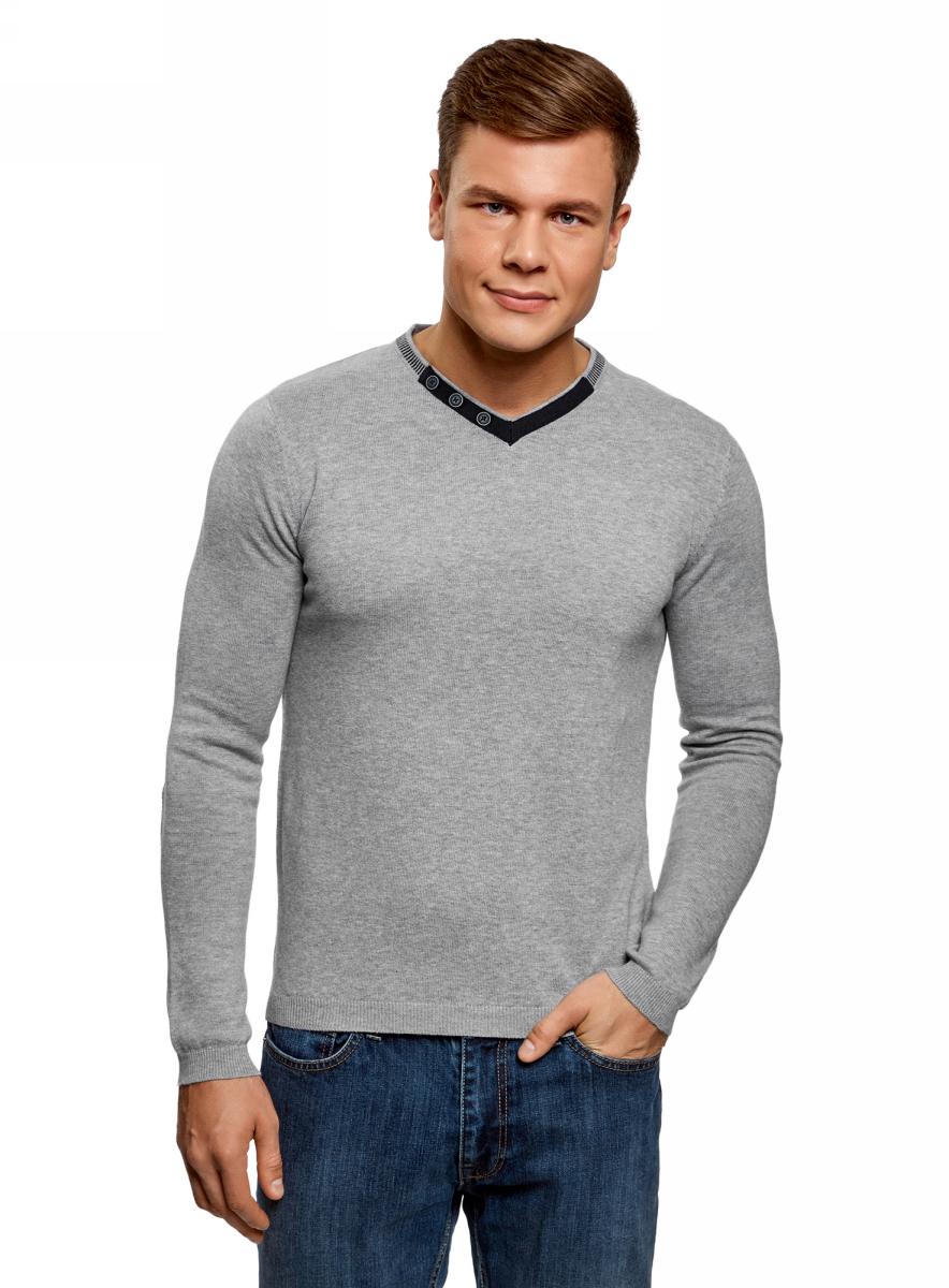 Пуловер oodji пуловер со стоячим воротником на молнии и с пуговицами pl barkley 1
