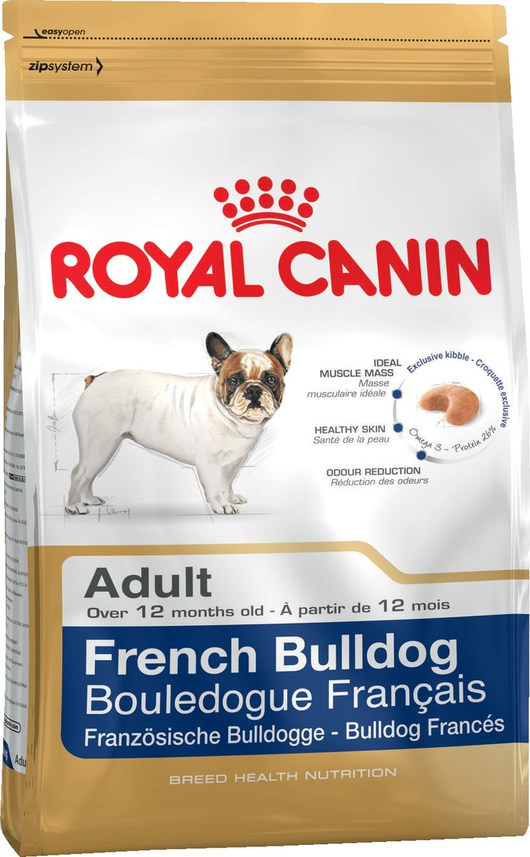 "Корм сухой Royal Canin ""French Bulldog"", для собак породы французский бульдог от 12 месяцев, 3 кг"