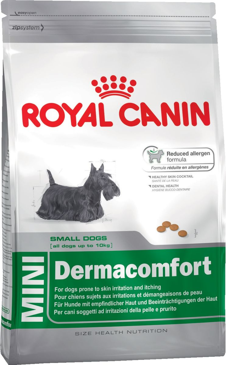 """Корм сухой Royal Canin """"Mini Dermacomfort"""", для собак с раздраженной и зудящей кожей, 2 кг"""