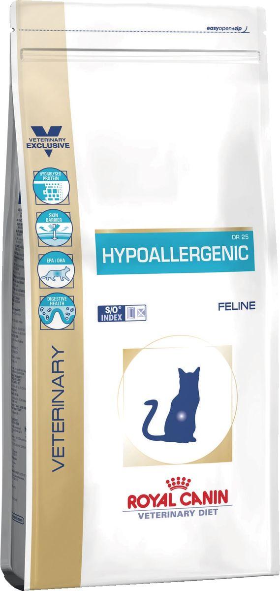 Корм сухой Royal Canin Vet Hypoallergenic Dr25, для кошек при пищевой аллергии/непереносимости, 2,5 кг корм сухой royal canin vet sensitivity control sc21 для собак при пищевой аллергии или непереносимости с уткой 1 5 кг