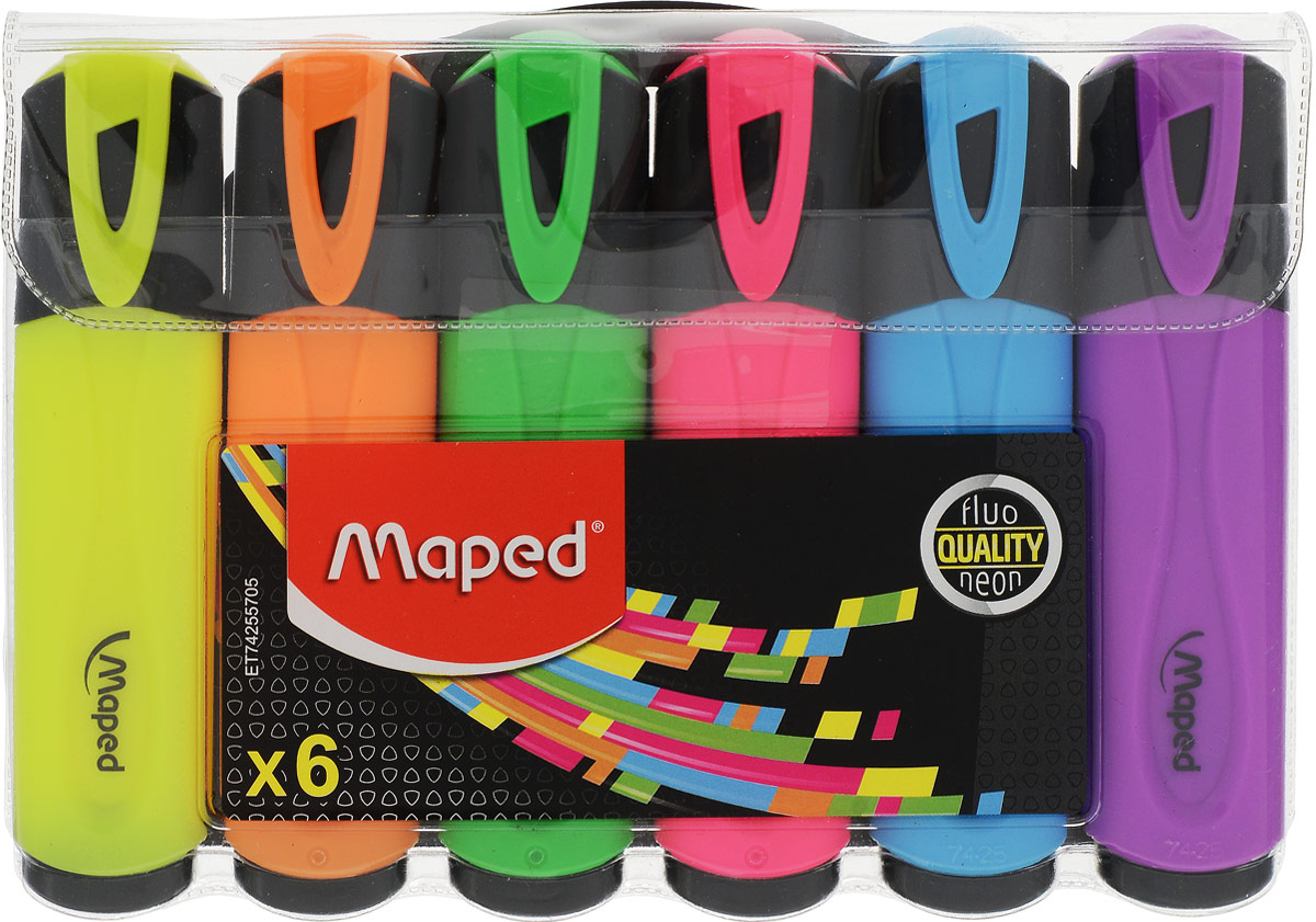 Maped Набор маркеров Fluo Pep'S 6 цветов