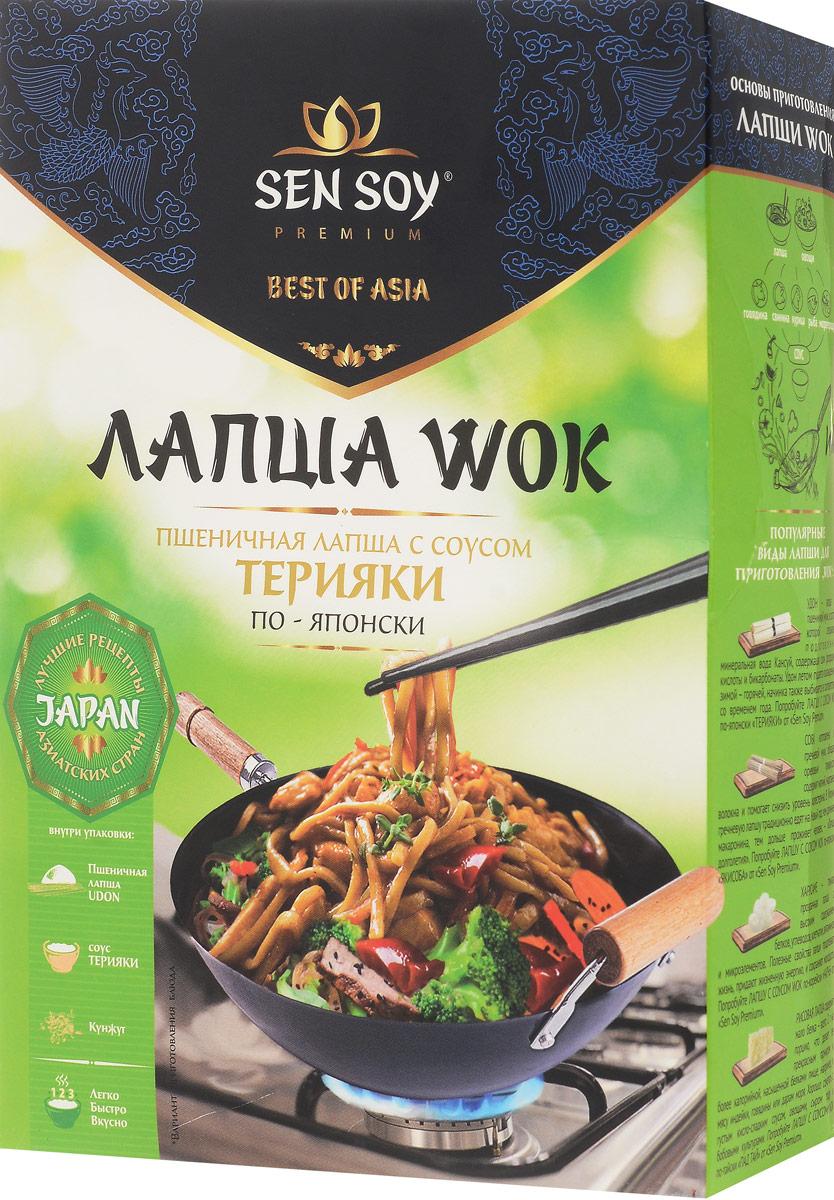 Sen Soy лапша пшеничная udon с соусом teryaki и кунжутом, 275 г