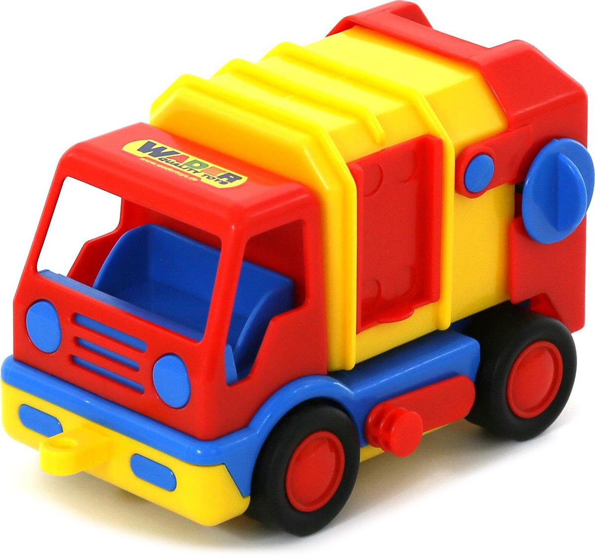 Полесье Коммунальная спецмашина Базик, цвет в ассортименте автомобиль коммунальная спецмашина полесье кнопик красная кабина