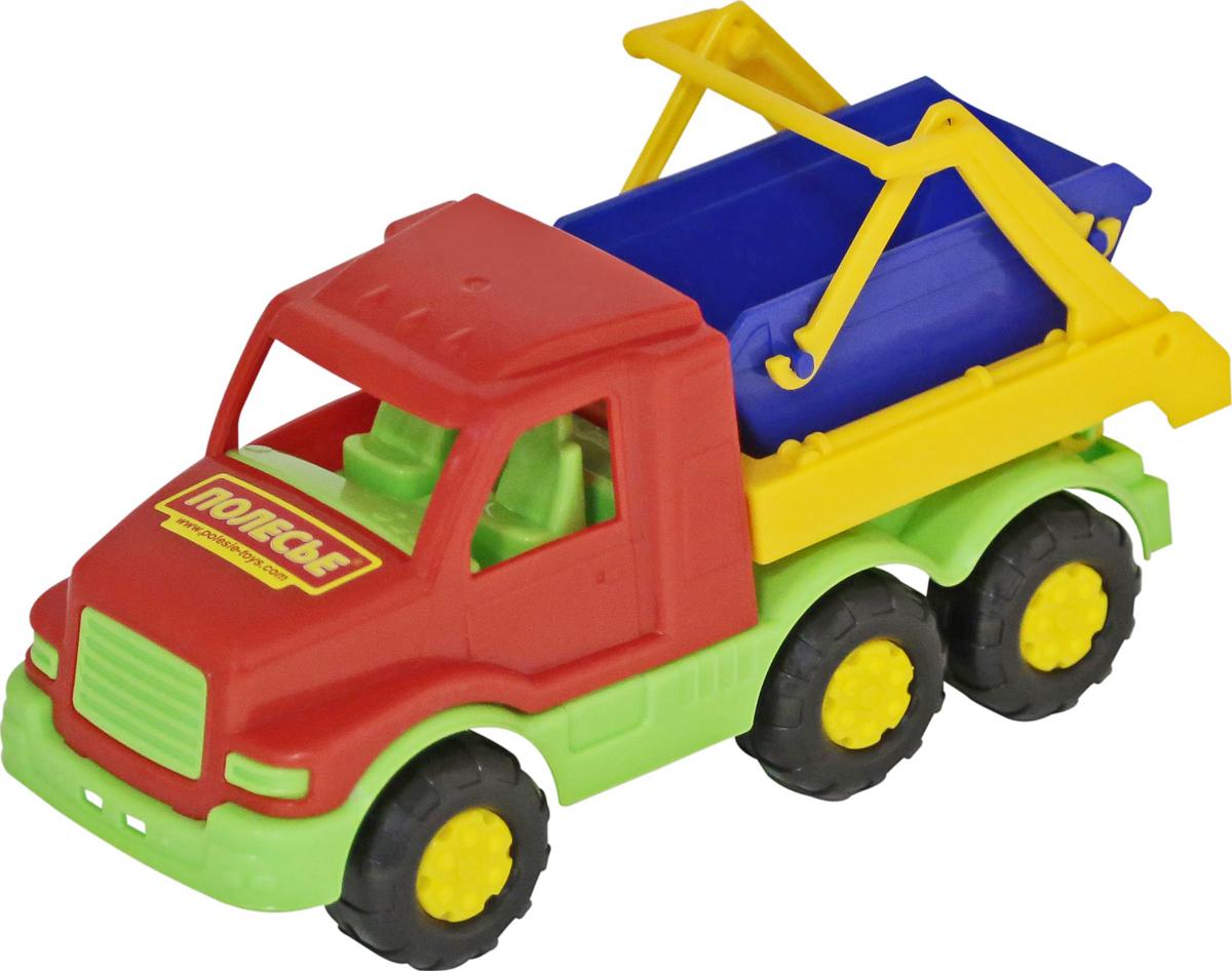 Полесье Коммунальная спецмашина Максик, цвет в ассортименте автомобиль коммунальная спецмашина полесье кнопик красная кабина