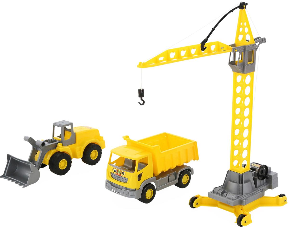 Полесье Набор строительной техники Агат, цвет в ассортименте игрушка полесье агат 56429