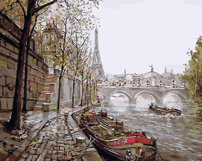 Набор для рисования по номерам Цветной Прогулки по Сене, 40 х 50 см набор для рисования по номерам цветной венецианский мостик 40 x 50 см