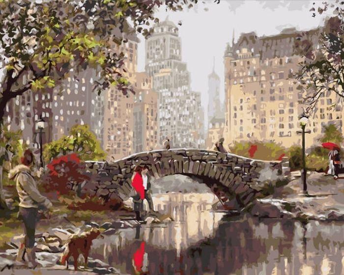 Набор для рисования по номерам Цветной Нью-Йорк. Гэпстоу парк, 40 х 50 см