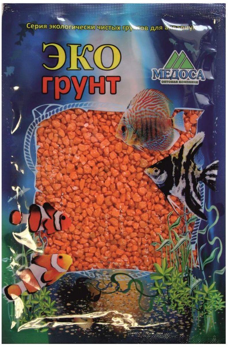 Грунт для аквариума ЭКОгрунт, мраморная крошка, цвет: оранжевый, 2-5 мм, 3,5 кг. г-1004 грунт для аквариума экогрунт мраморная крошка блестящая цвет синяя 2 5 мм 7 кг
