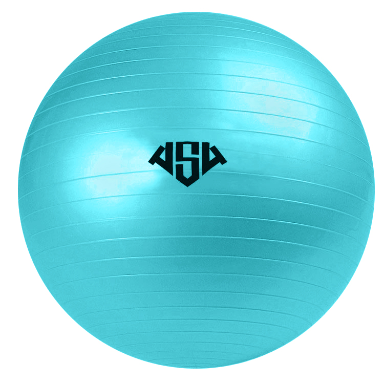 Мяч гимнастический AS4, цвет: бирюзовый, диаметр 55 см. RG-1 мяч гимнастический larsen цвет синий диаметр 19 см