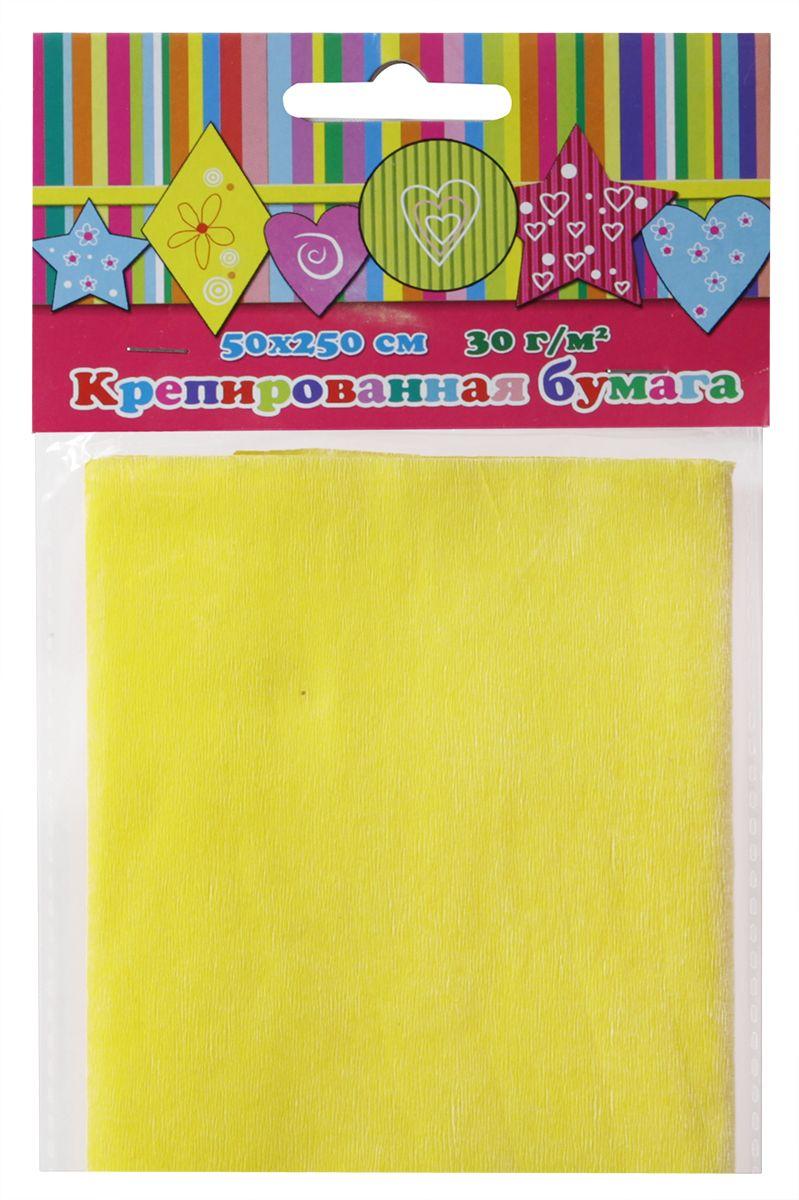 Феникс+ Бумага крепированная цвет желтый 50 х 250 см