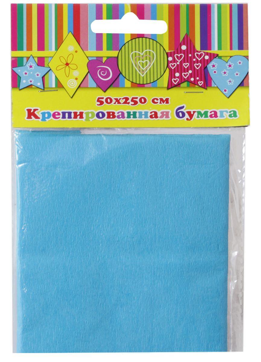 Феникс+ Бумага крепированная цвет голубой 50 х 250 см 28586