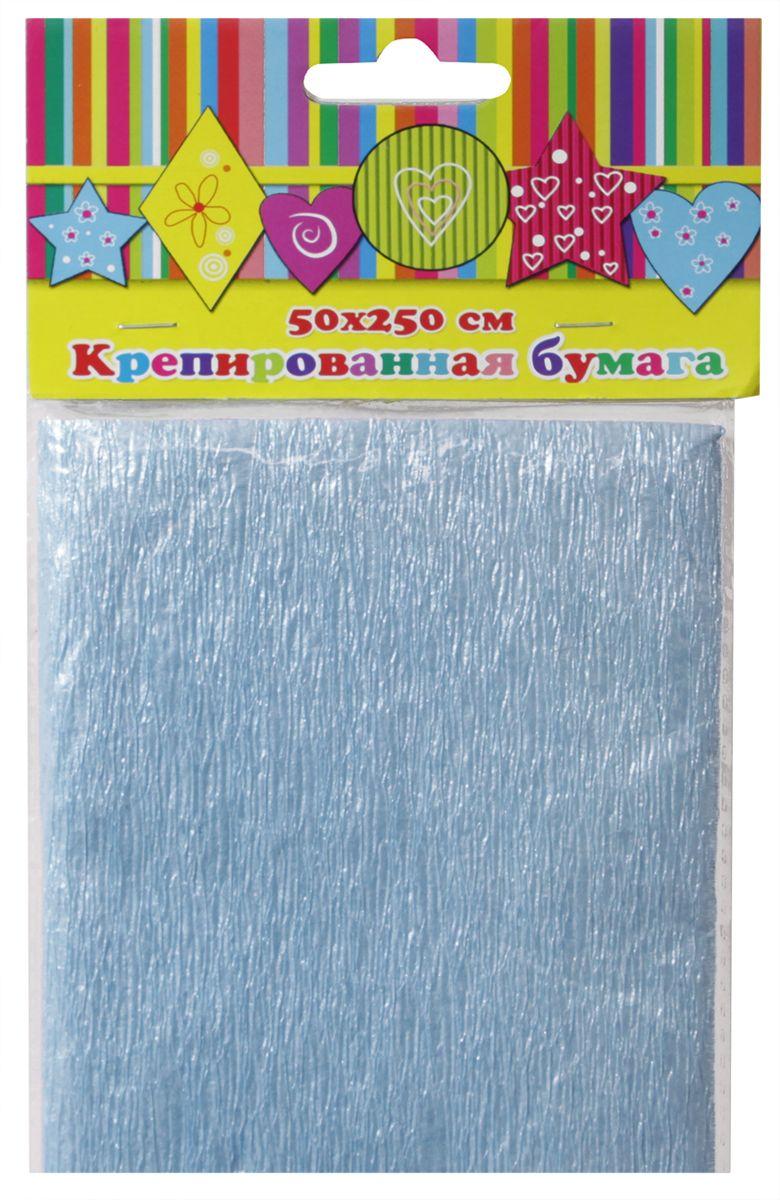 Феникс+ Бумага крепированная цвет голубой перламутр 50 х 250 см
