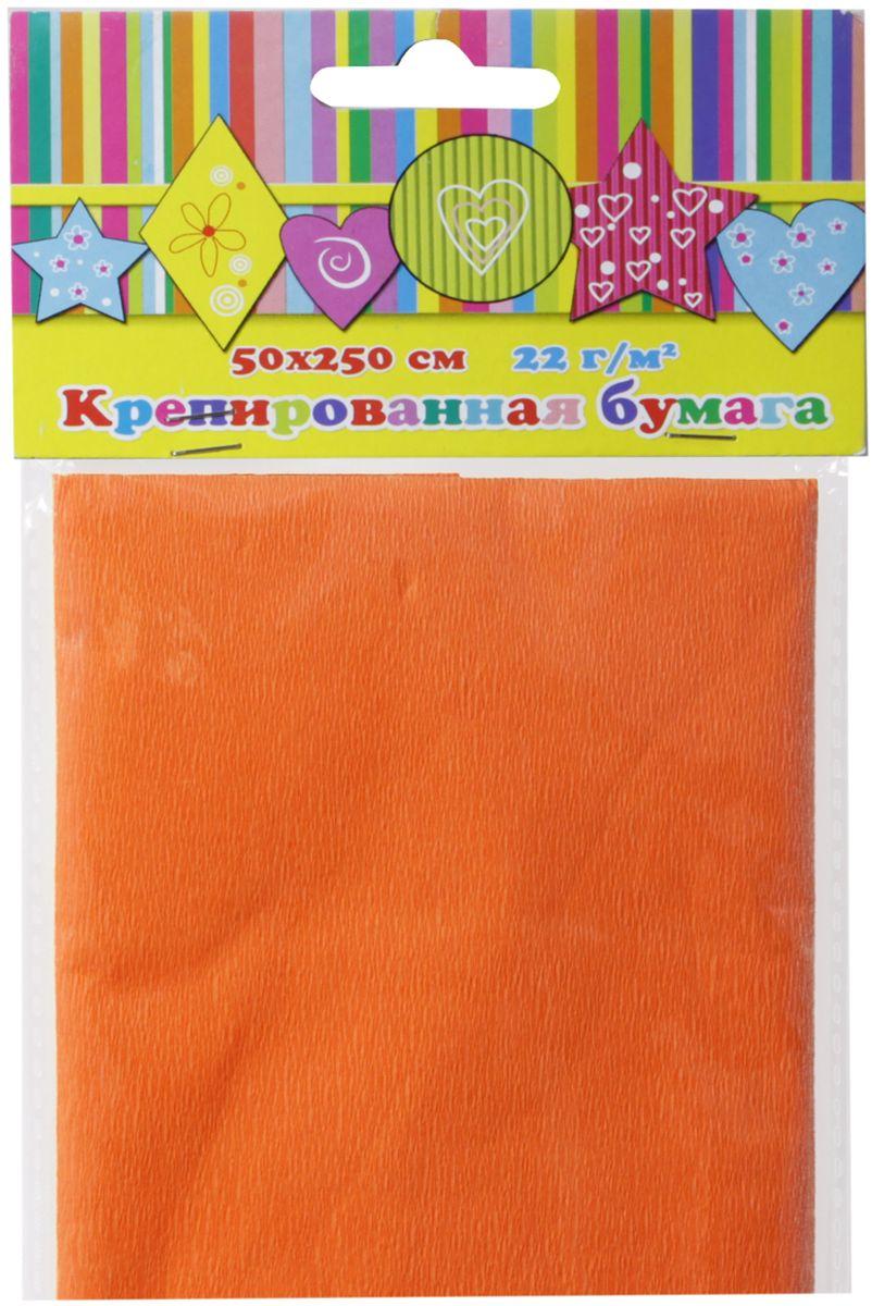 Феникс+ Бумага крепированная цвет оранжевый 50 х 250 см