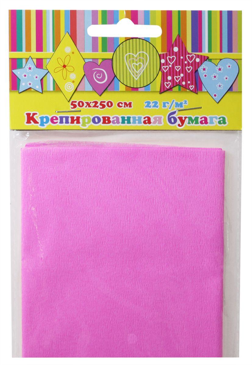 Феникс+ Бумага крепированная цвет розовый 50 х 250 см