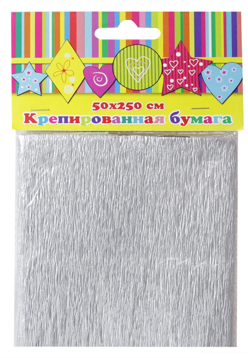 Феникс+ Бумага крепированная цвет серебристый 50 х 250 см