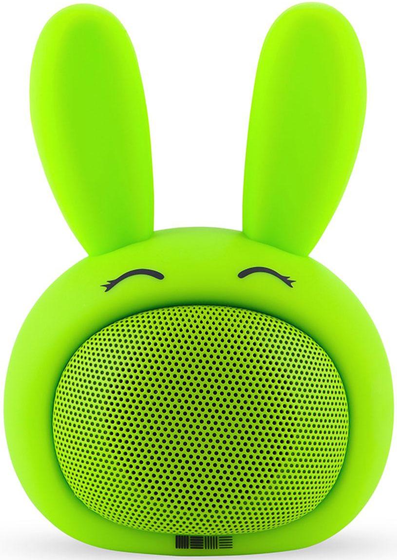 Беспроводная колонка Interstep Funny Bunny 3W SBS-150, Green невидимка для волос funny bunny розовые цветы 2 шт