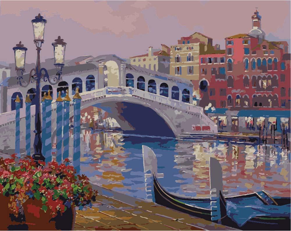 Картинка с венецией нарисованная