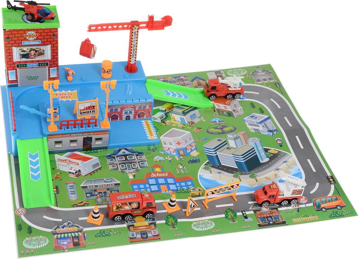 Veld-Co Игровой набор Парковка Спасатели набор подарочных коробок veld co цветочная абстракция кубы 3 шт 53452