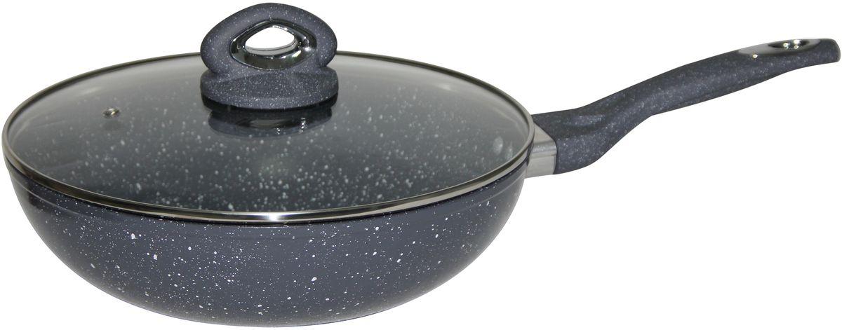 Сковорода-вок Bekker, с крышкой, с антипригарным покрытием. Диаметр 32 см. BK-7922 сковорода 32 см bekker