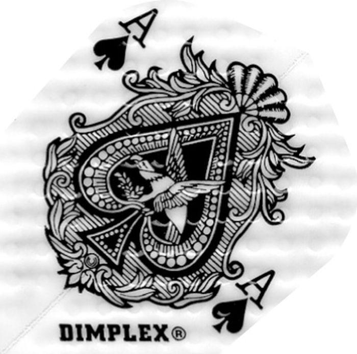Набор оперений для дротиков Harrows Димплекс №4002 цвет: черный, белый, 3 шт