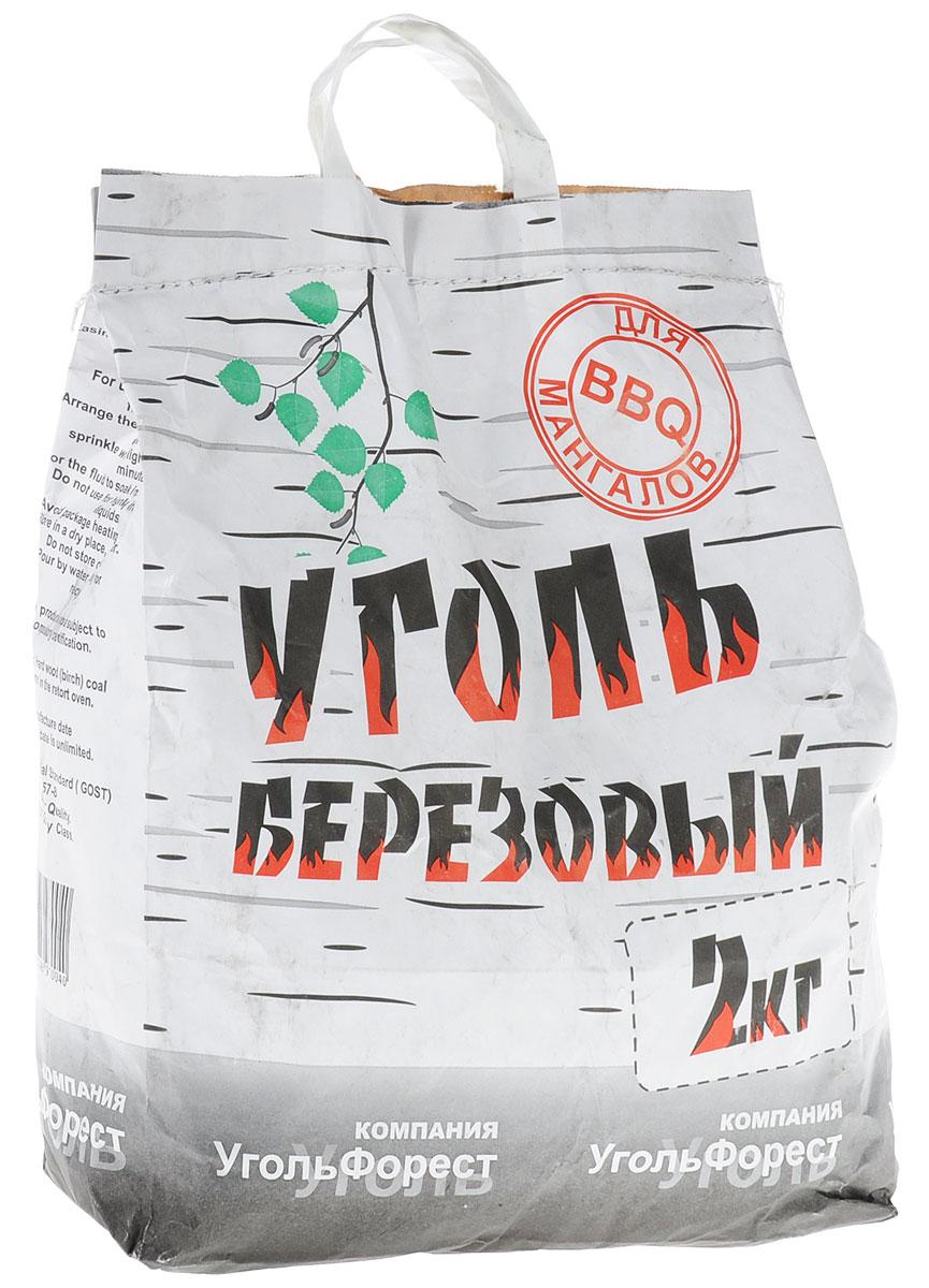 Уголь березовый Уголь Форест, 2 кг уголь берёзовый сamping рalisad 3 кг