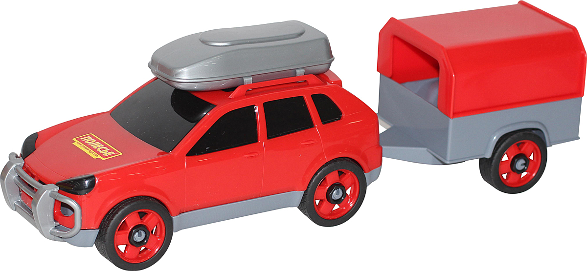 Полесье Автомобиль легковой с прицепом, цвет в ассортименте автомобиль пластмастер малютка зефирки цвет в ассортименте 31172