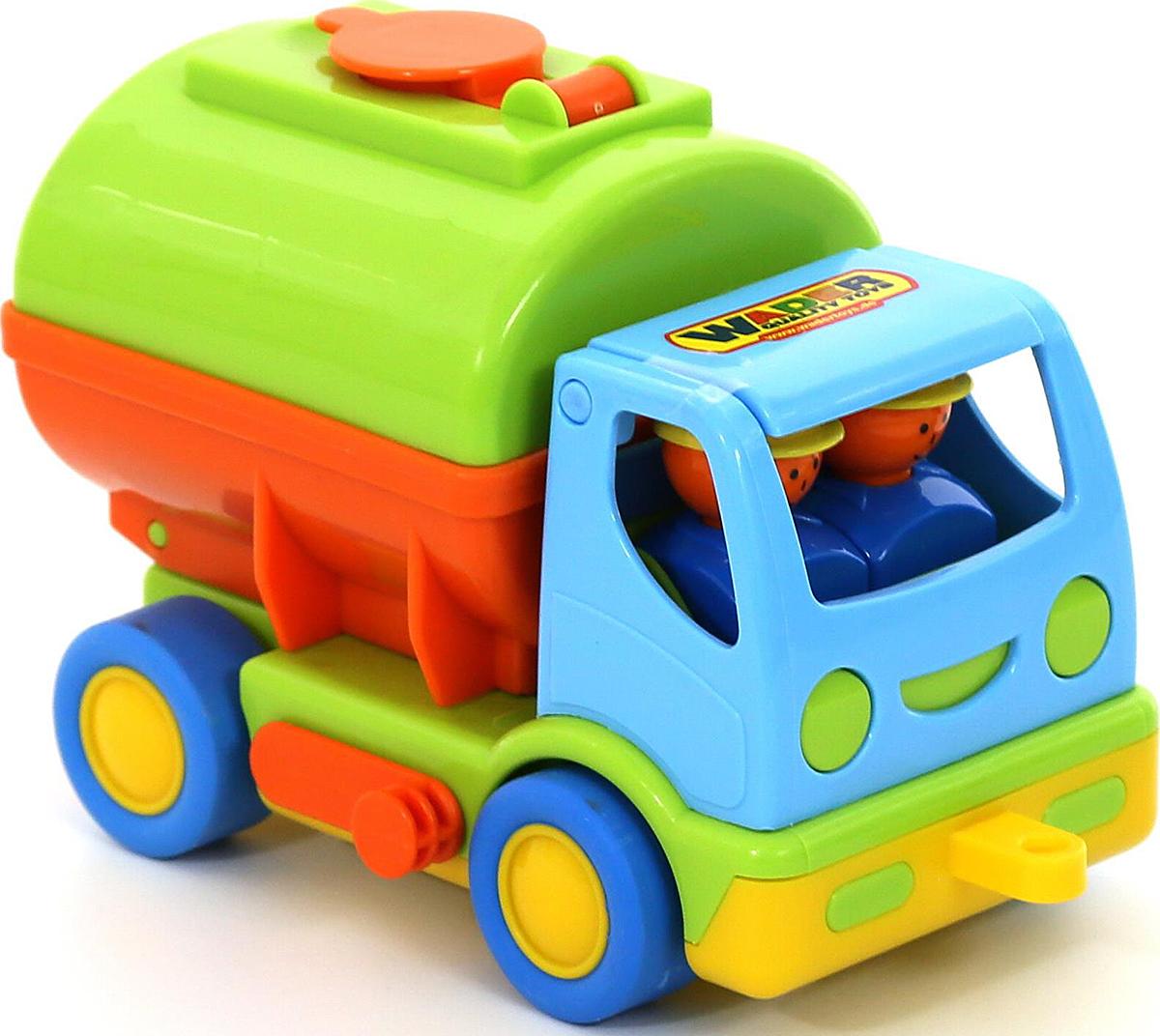 Полесье Автомобиль с цистерной Мой первый грузовик 40145, цвет в ассортименте автомобиль пожарный полесье мой первый грузовик в сеточке 3225
