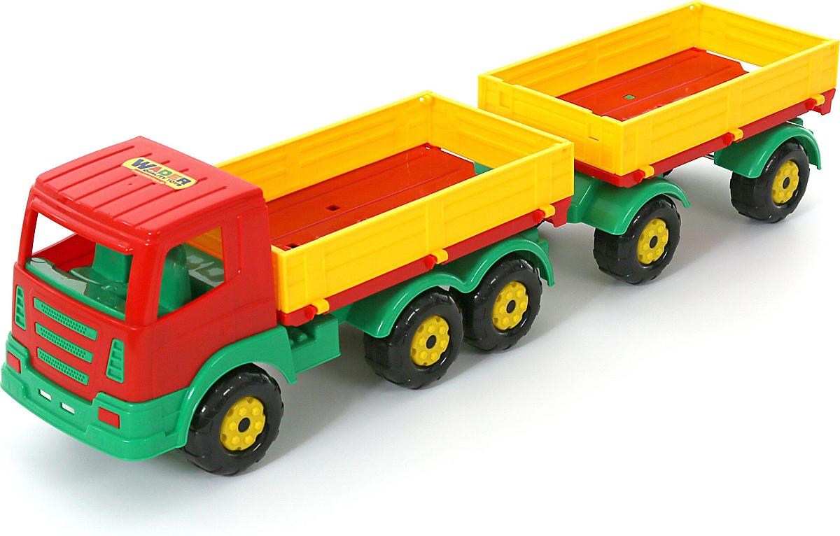 Полесье Грузовик бортовой Престиж с прицепом, цвет в ассортименте полесье грузовик бортовой тентовый volvo с прицепом 58294 цвет в ассортименте