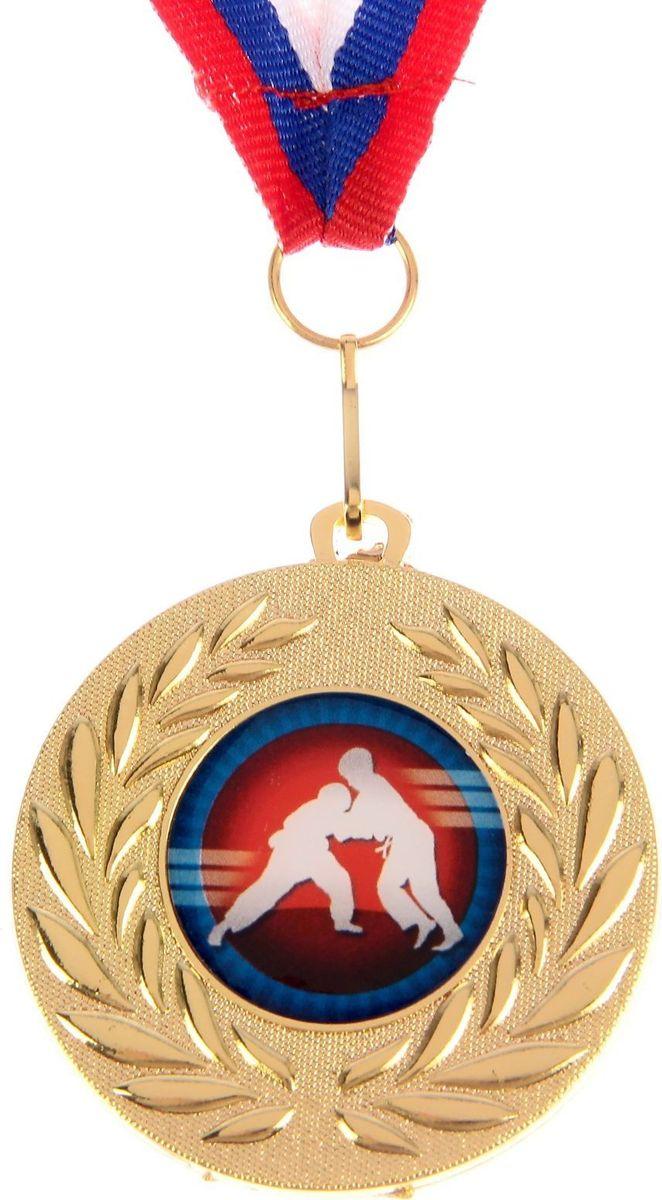 Медаль сувенирная Дзюдо, цвет: золотистый, диаметр 5 см. 070 медаль ника 1 место диаметр 5 см 337421