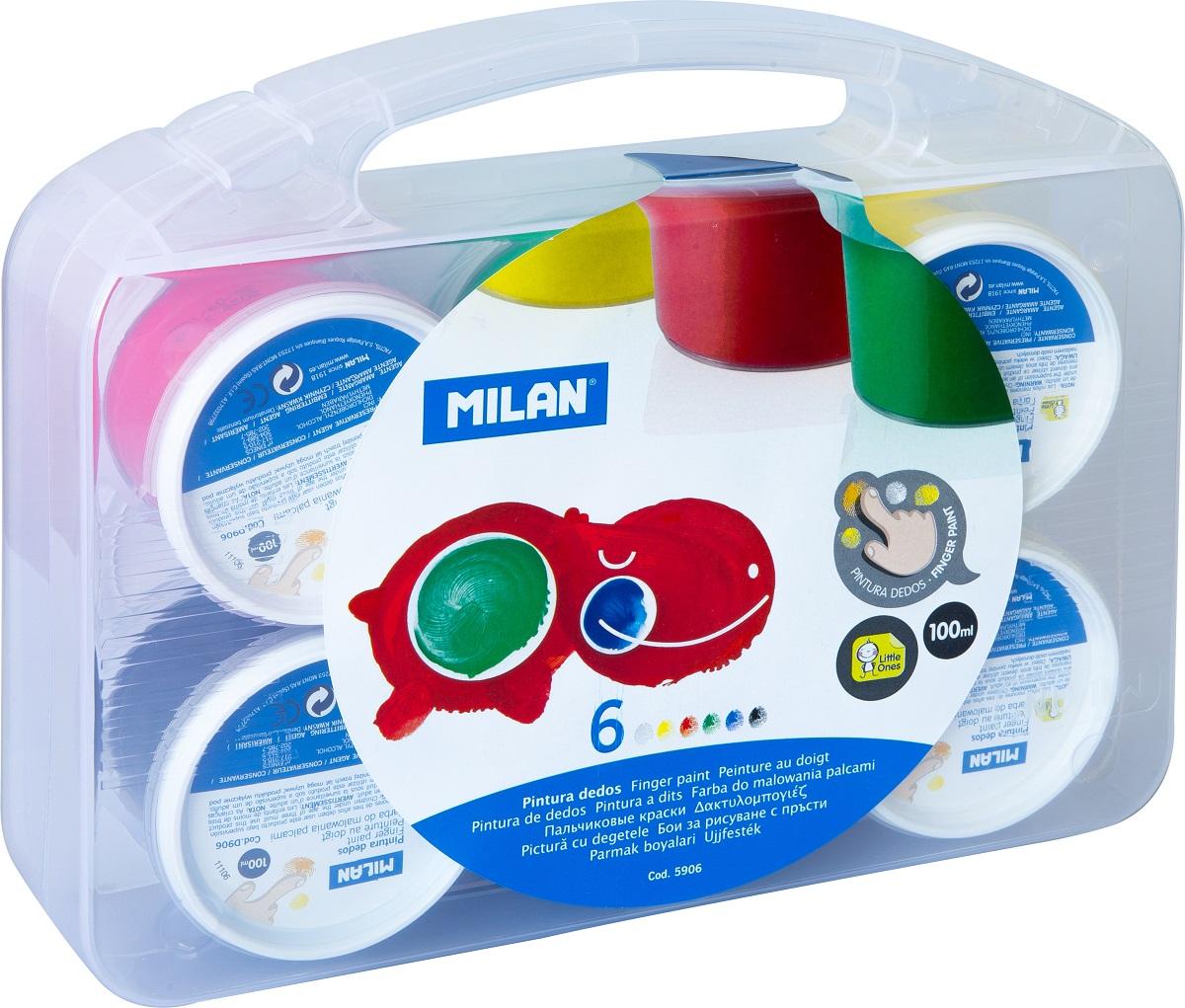 Milan Краска пальчиковая 6 цветов