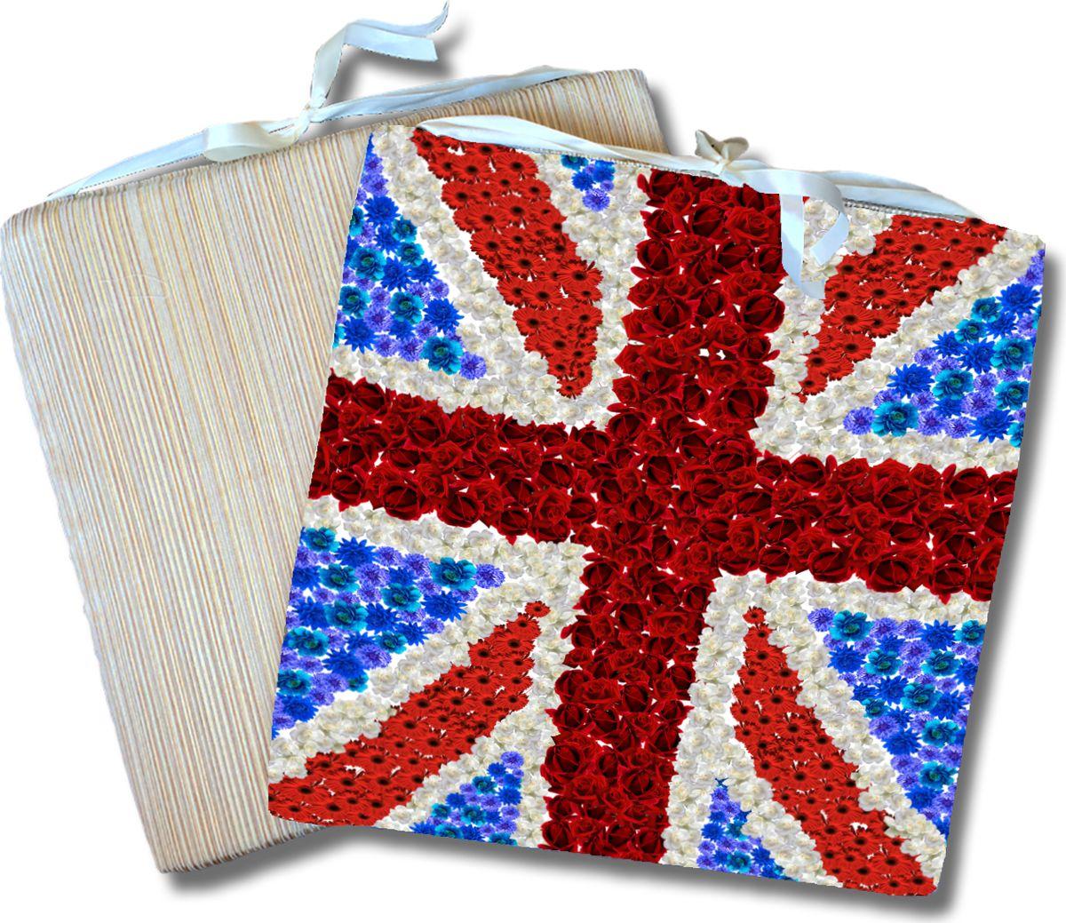 Подушка на стул Gift'n'Home Британский флаг, 40 х 40 х 2 см подушка декоративная home queen 40 х 40 см