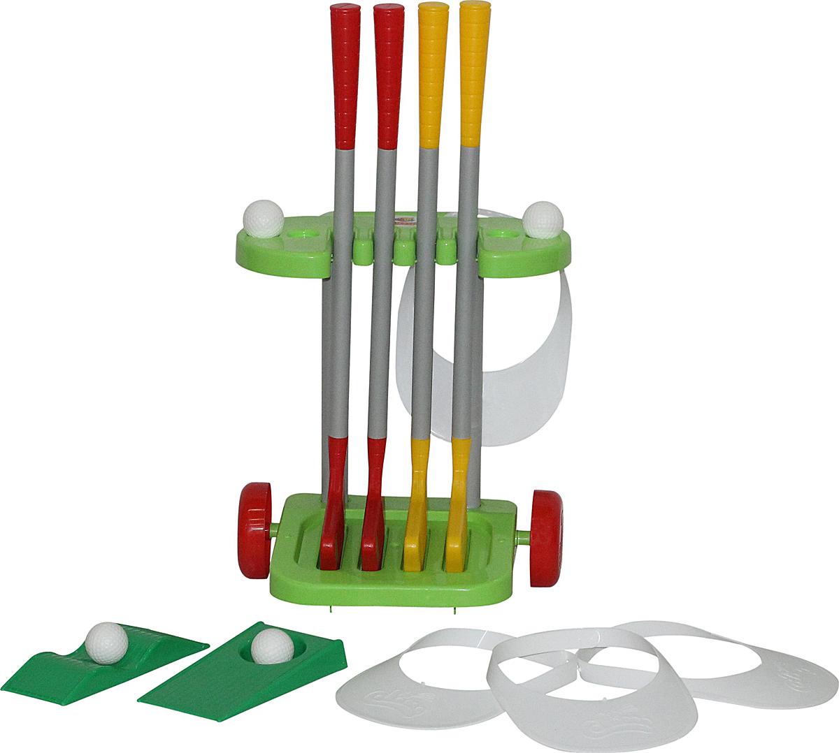 Полесье Игровой набор Гольф-2, цвет в ассортименте04Гольф для детей очень полезен: развивает координацию движений, улучшает меткость и внимательность, а также учит ребенка достойно вести себя в игре.Набор компактен и удобен в хранении. С этим замечательным набором дети смогут устроить настоящий любительский турнир за звание лучшего гольфиста. Уважаемые клиенты! Обращаем ваше внимание на цветовой ассортимент товара. Поставка осуществляется в зависимости от наличия на складе.