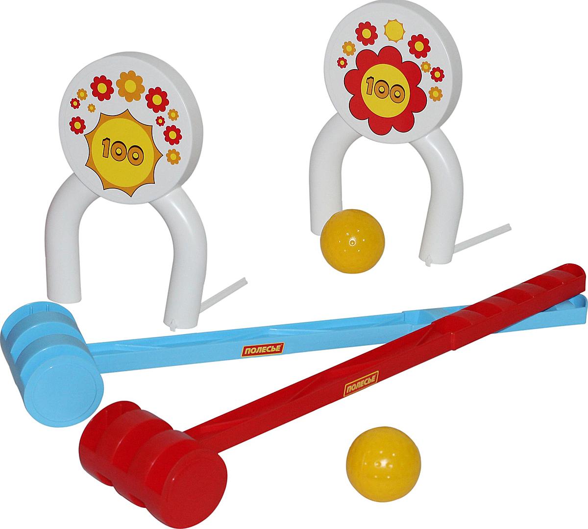 Полесье Игровой набор Крокет, цвет в ассортименте игровой набор gonher ковбойский набор револьвер пластмассовый на 8 пистонов звезда шерифа 204 0