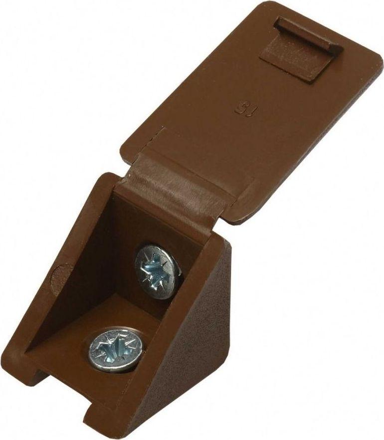 Мебельный уголок Tech-KREP, с шурупом, цвет: дуб, 4 шт уголок мебельный 80x18мм 4 винта коричневый